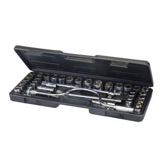 Coffret de 42 clés/douilles 1/2 pouce métriques et AF - 42 pcs
