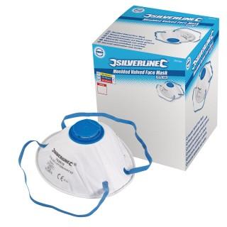 Boîte présentoir de 10 masques respiratoires moulés à valve FFP2 NR - FFP2 NR