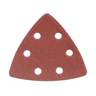 10 feuilles abrasives triangulaires auto-agrippantes 90 mm - Grain 120