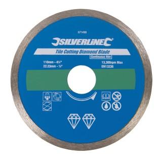 Disque diamanté à bordure continue pour carreaux - 110 x 22,23 mm