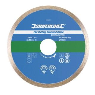 Disque diamanté à bordure continue pour carreaux - 115 x 22,23 mm