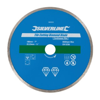 Disque diamanté à bordure continue pour carreaux - 180 x 22,23  mm