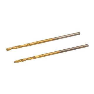 Jeu de 2 mèches en acier rapide titanées - 1,5 mm