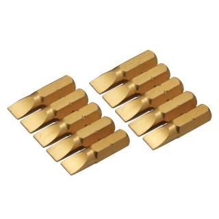10 embouts dorés plats - 6 mm