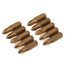 10 embouts dorés Phillips - PH2