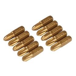 10 embouts dorés Phillips - PH3