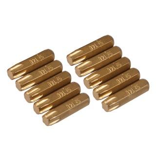 10 embouts dorés Torx - T40