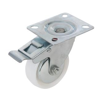 Roulette pivotante polypropylène à frein - 75 mm 70 kg