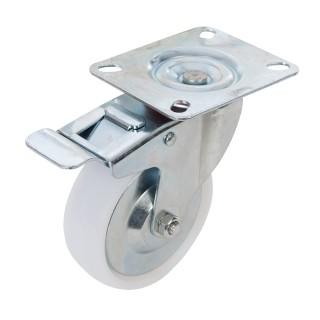 Roulette pivotante polypropylène à frein - 100 mm 125 kg