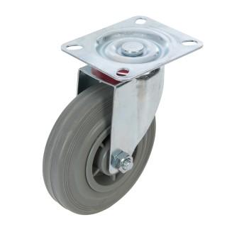 Roulette pivotante caoutchouc - 125 mm 100 kg