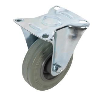 Roulette fixe en caoutchouc - 100 mm 70 kg