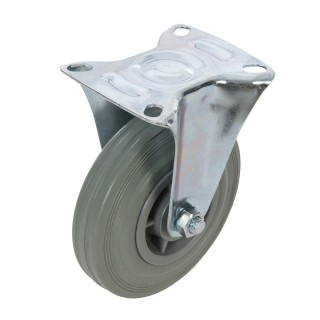 Roulette fixe en caoutchouc - 125 mm 100 kg
