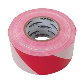 Ruban de balisage - 70 mm x 500 m Rouge/Blanc