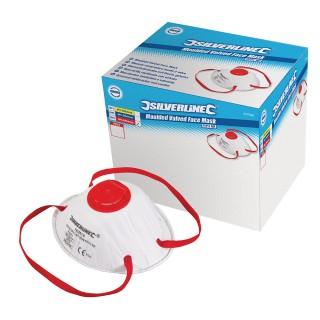 Boîte présentoir de 10 masques respiratoires moulés à valve FFP3 NR - FFP3 NR