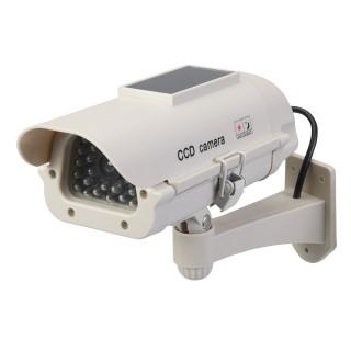 Caméra de surveillance factice solaire avec LED
