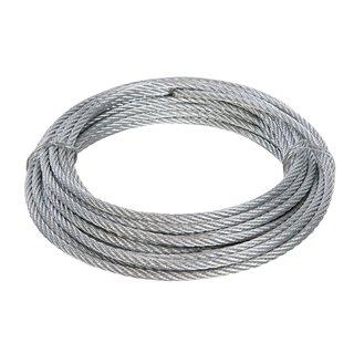 Câble métallique galvanisé - 4 mm x 10 m