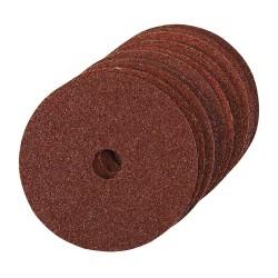 10 disques de ponçage en fibres 100 x 16 mm - Grain 36