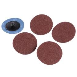 Kit 5 disques abrasifs à changement rapide 50 mm - Grain 60