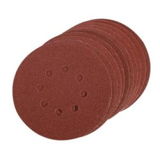 Lot de 10 disques abrasifs auto-agrippants 150 mm - Grain 100
