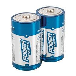 Lot de 2 piles alcalines Super LR20 type D - Lot de 2