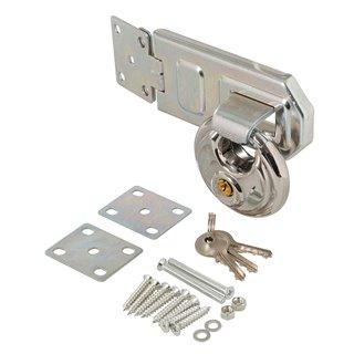 Ensemble 2 pcs moraillon en acier et cadenas rond - 70 mm