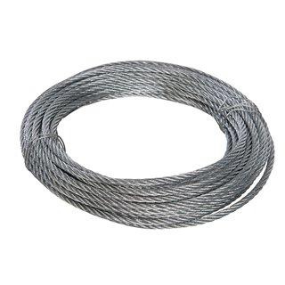 Câble métallique galvanisé - 6 mm x 10 m