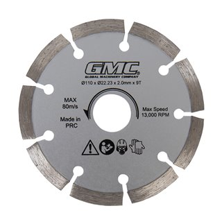 Lame de scie diamant - GTS1500 - 110 x 22,23 x 2 mm, 9 dents