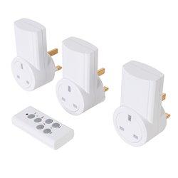 Lot de 3 prises électriques télécommandées 240 V - Prises UE - 13 A - 240 V