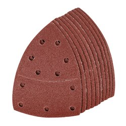 Lot de 10 feuilles abrasives auto-agrippantes 102 x 62 mm, 93 mm - Grain 80