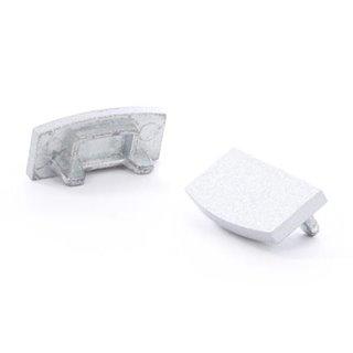 Capuchon En Aluminium Pour Profilé Pour Ruban Led Slimline 7 Mm - Sans Pré-Perçage - Argent