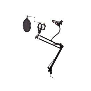 Pied De Table Pour Microphone Avec Support Pour Smartphone - Réglable