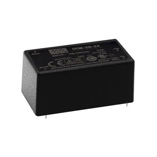 Mean Well - 20 W Single Output Encapsulated Type - 24 V