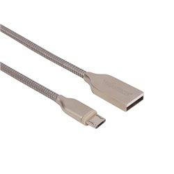 Câble Usb 2.0 A Mâle Vers Micro-Usb Mâle 5 Broches Mâle - Métal Tressé - 1 M