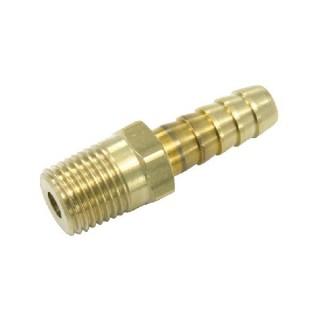 Jonction pour tuyaux : Filetage 1/4 - Ø 8 mm