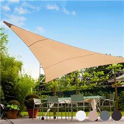 Voile d'Ombrage Triangulaire (5 mètres)-Couleur-Marron