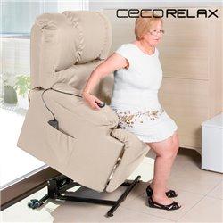 Fauteuil de Relaxation Lève-Personne avec Massage Cecorelax 6012