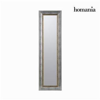 Miroir cadre argent avec fil or by Homania