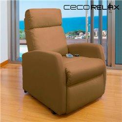 Fauteuil de Relaxation Massant Cecorelax Compact Camel 6019