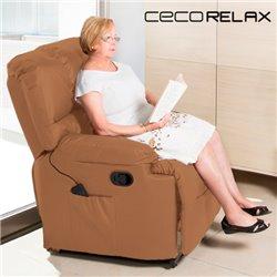 Fauteuil de Relaxation Massant Cecorelax Camel 6005