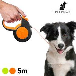 Laisse pour Chien Extensible Pet Prior (5 m)-Couleur-Orange