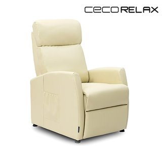 Fauteuil Relax Masseur Compact Push Back Beige Cecorelax 6181