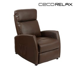 Fauteuil Relax Masseur Compact Push Back Marron Cecorelax 6182