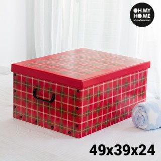 Boîte de Rangement en Carton avec Couvercle et Poignées Cuadros Oh My Home