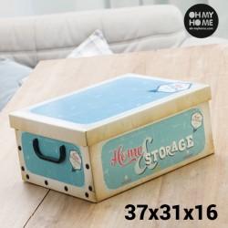 Boîte de Rangement en Carton avec Couvercle et Poignées Vintage Oh My Home