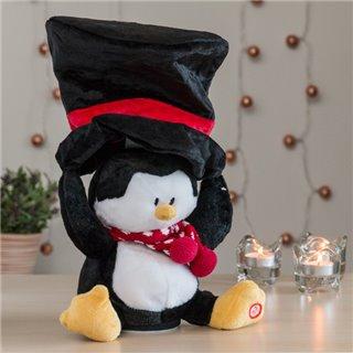 Peluche de Noël avec Son et Mouvement-Design-Pingouin
