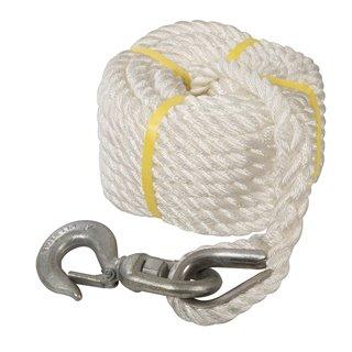 Corde à poulie manuelle avec crochet - 20 m
