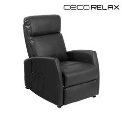 Fauteuil Relax Masseur Compact Push Back Noir Cecorelax 6180