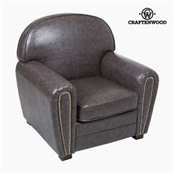 Fauteuil Cuir synthétique Gris - Collection Relax Retro by Craftenwood
