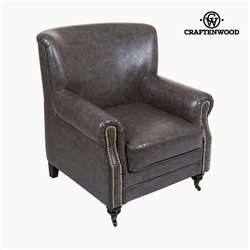 Fauteuil Velours Gris - Collection Relax Retro by Craftenwood