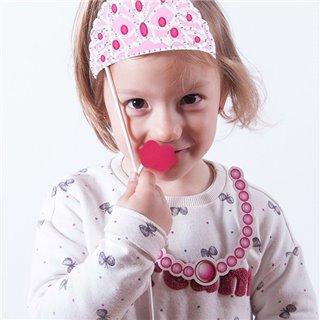 Accessoires Princesse pour Photos Amusantes (pack de 12)